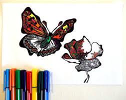 poppy coloring sheet etsy
