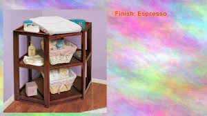 Changing Table Shelves by Espresso Corner Changing Table By Badger Basket Youtube