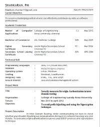 Best Resume Format For Entry Level by Pleasurable Design Ideas Resume For Freshers 16 Resume Samples