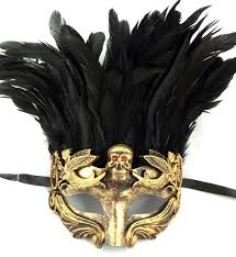 mardi gras mens mask gold skull feather masquerade mardi gras men s mask ebay