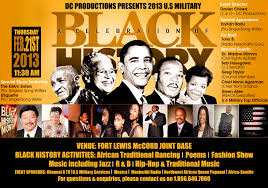 black history celebration with u s troops