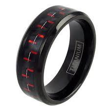 black titanium black titanium wedding band for men with black carbon fiber
