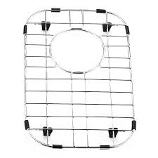 Amazon Com Interdesign Gia Kitchen Sink Protector Wire Grid Mat by Vigo Stainless Steel Bottom Grid 9 In X 13 875 In Kitchen