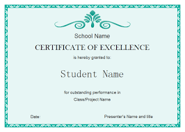 Free Certificate Of Excellence Template Excellent Certificate Free Excellent Certificate
