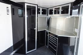 v nose enclosed trailer cabinets touch of class trailers david enclosed trailer interiors