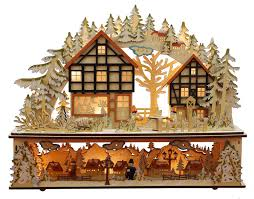 wooden christmas village scenes christmas villages magical