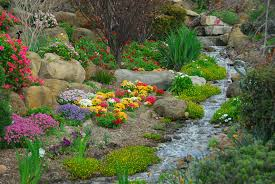 Rock Garden With Water Feature Rock Garden With Flowers Running Water Feature Daily Dose