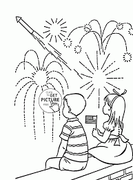 independence day coloring pages kids and fireworks independence