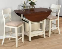 kitchen inspiring white drop leaf kitchen table with bottle rack