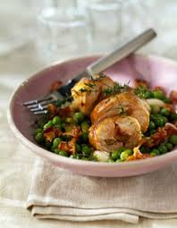 cuisiner rable de lapin recette de râble de lapin aux chignons et petits pois