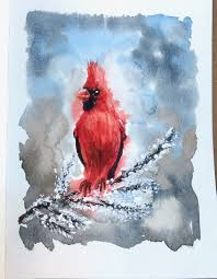 painting greeting cards in watercolor i painted this lovely cardinal and dedicated it to christmas and