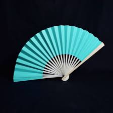 hand fans for sale 9 turquoise paper hand fans for weddings premium paper stock 10