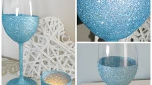 Home Decor Tutorial by How To Make Your Own Sparkling Wine Glasses Diy Crafts Tutorial
