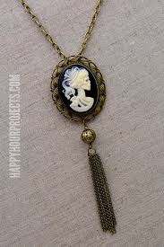 cameo necklace images Diy halloween accessories skeleton cameo necklace jpg
