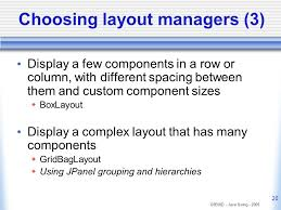 java null layout manager swing java swing lecture 3 layout management ppt video online download