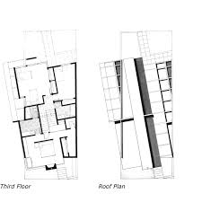 2nd year design studio 2003 2004 by peter michael mang at coroflot com urban row house 3rd floor and roof plan hand drawing ink on board