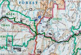 Colorado National Forest Map by Trail Map Of Brasstown Bald U0026 Chattooga River Chattahoochee