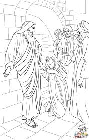 jesus heals canaanite woman u0027s daughter coloring page free