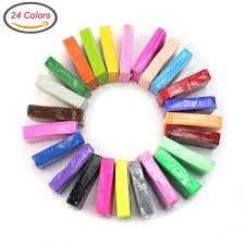 polymer clay ciaraq 24 colors oven bake diy colorful clay safe and