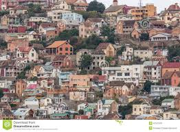 Houses In The Hills Densely Packed Houses On The Hills Of Antananarivo Stock Photo