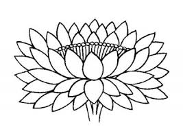 pix for buddhist lotus flower drawing clip art library