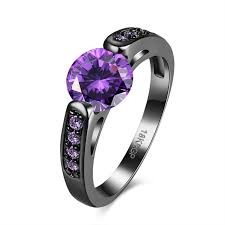 birthstone rings aliexpress buy fashion jewelry purple february