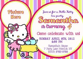 Tea Party Invitation Card Free Printable Hello Kitty Birthday Party Invitations Drevio