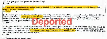 subject when sending resume h1b visa worker deported at port of entry after cbp officer finds