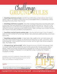 31 days to a clutter free life the ground rules day 1 living