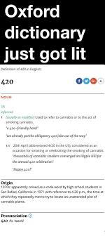 Meme Definition Pronunciation - oxford dictionary just got lit definition of 420 in english 420 noun