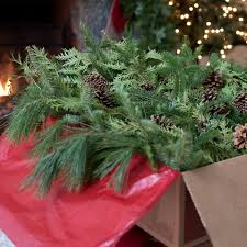 big box of greens fresh christmas decorations