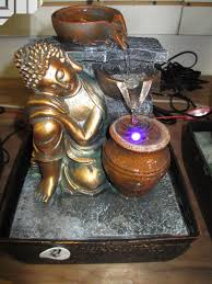 indoor fountain with light tabletop water fountains with lights chic design 18 polyresin buddha