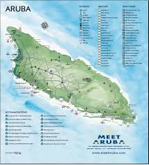 World Map Aruba by Island And City Maps The Caribbean Stadskartor Och Turistkartor