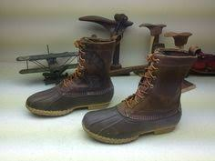 ll bean s boots size 12 l l bean mens sz 9 brown duo tone lace up leather rubber