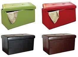 Folding Storage Ottoman Kennedy Home Collection 16 X 30 Folding Storage Ottoman For