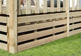 soubassement bois kit soubassement terrasse et mobil home clairval vente accessoire