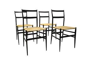 gio ponti set of 4 supperleggera chairs gio ponti 1950s design market