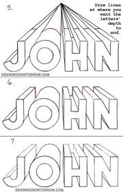 how to draw 3 dimensional letters in one point perspective