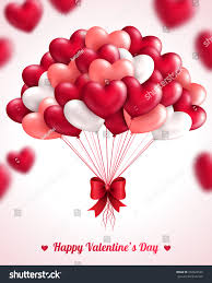 valentines day background heart balloons vector stock vector