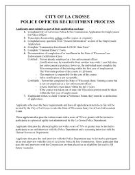 job posting u2013 police officer la crosse wi