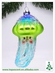 2014 unique christmas hanging handblown sea animal glass ornaments