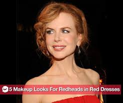 what kind of makeup to wear if you re a redhead wearing a red dress popsugar beauty
