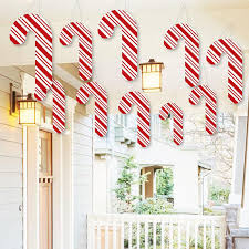 Candy Cane Outdoor Decorations Hanging Candy Cane Outdoor Christmas Porch U0026 Tree Yard
