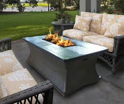 outdoor patio furniture sets with fire pit dining tables gas set