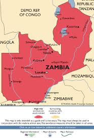 map of zambia zambia malaria map fit for travel