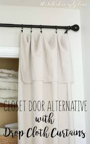 Shower Curtain For Closet Door Curtain Closet Door Rod Unforgettable Diy Curtains The Best Ideas