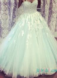 Wedding Dresses Light Blue Blue Colored Wedding Dress Pastel Blue Lace Tulle Wedding Gowns Online