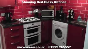 red gloss kitchens red kitchen ideas call 01292 265557 youtube