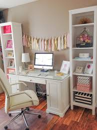 White Desks Ikea by Girly Office Makeover Victoria Drive Pinterest Office
