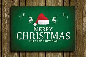 christmas greeting card template card templates creative market